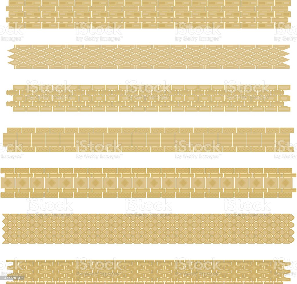 Repeating gold chain bracelet royalty-free stock vector art