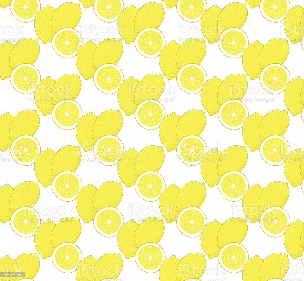 Repeating Lemon Pattern vector art illustration