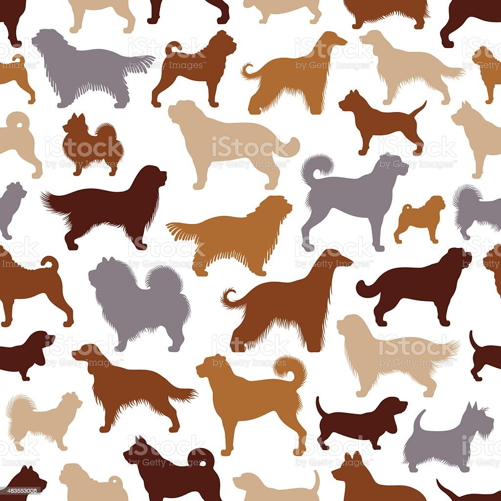 Repetitive Dogs Pattern vector art illustration