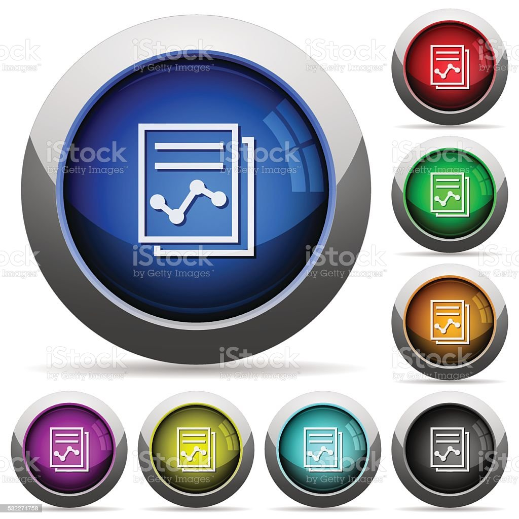 Report button set vector art illustration