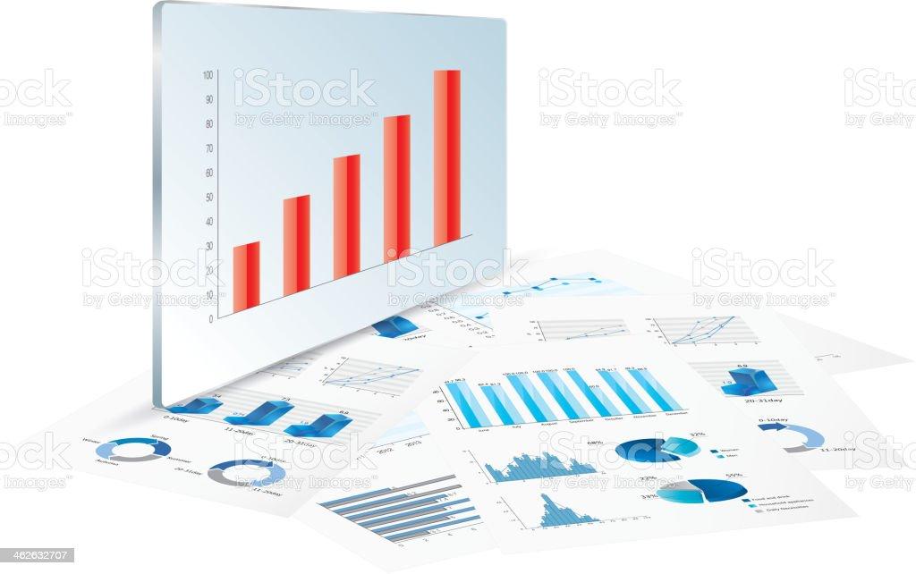 Report chart royalty-free stock vector art