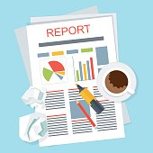 report on table