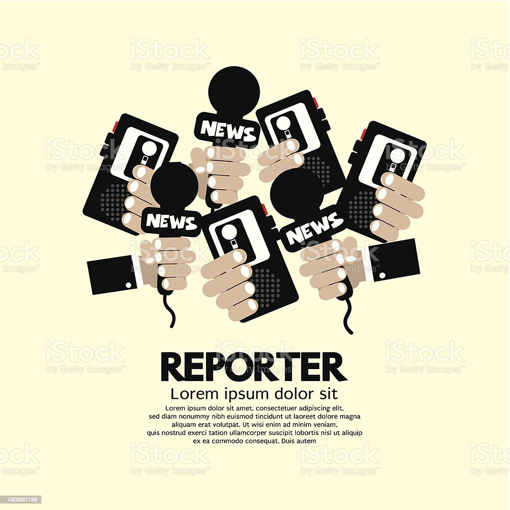 Reporter Concept vector art illustration