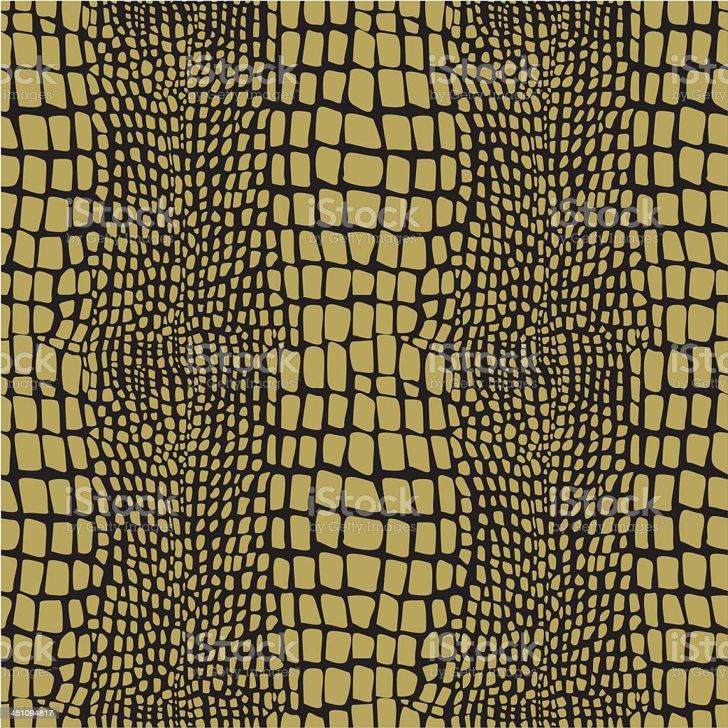 Reptile skin seamless pattern vector art illustration