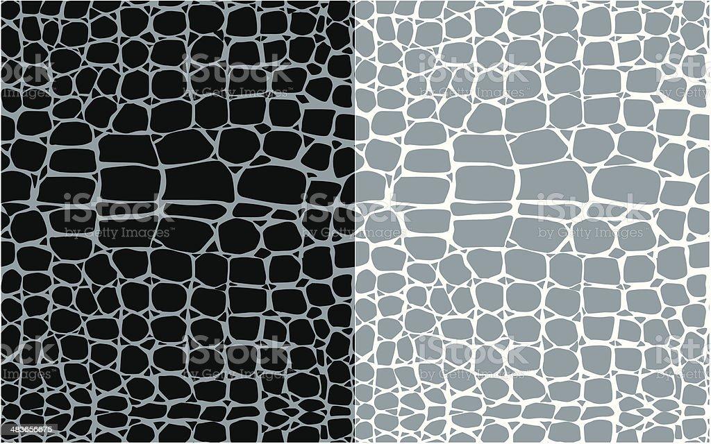 Reptile skin seamless patterns vector art illustration