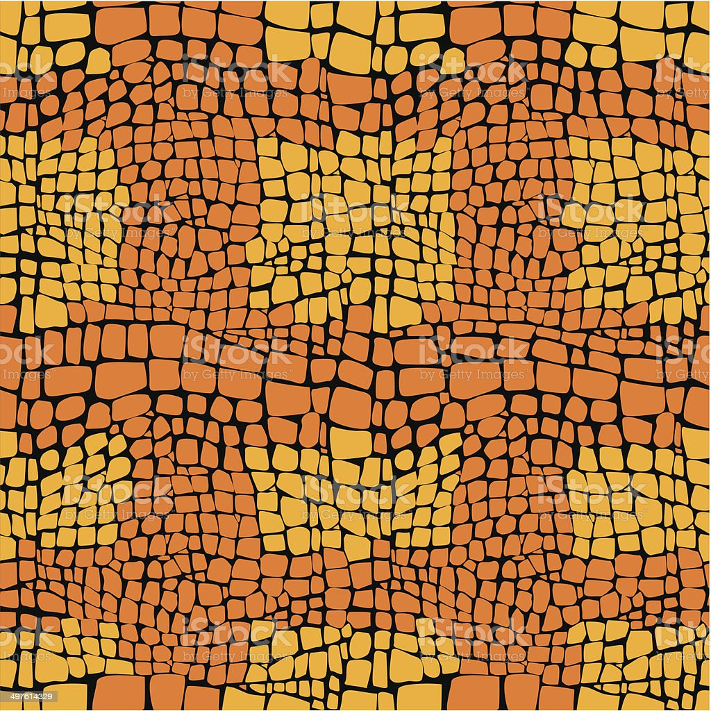 Reptile skin seamless vector pattern vector art illustration