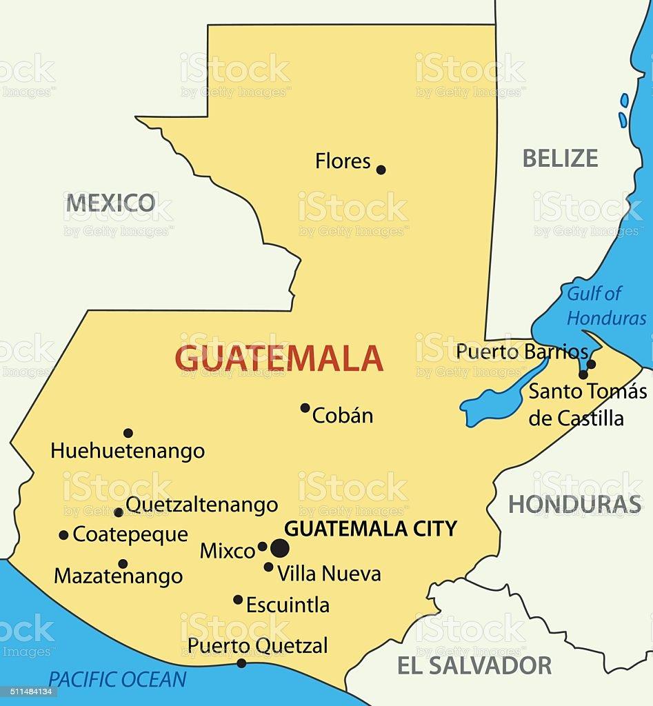 Republic of Guatemala - vector map vector art illustration