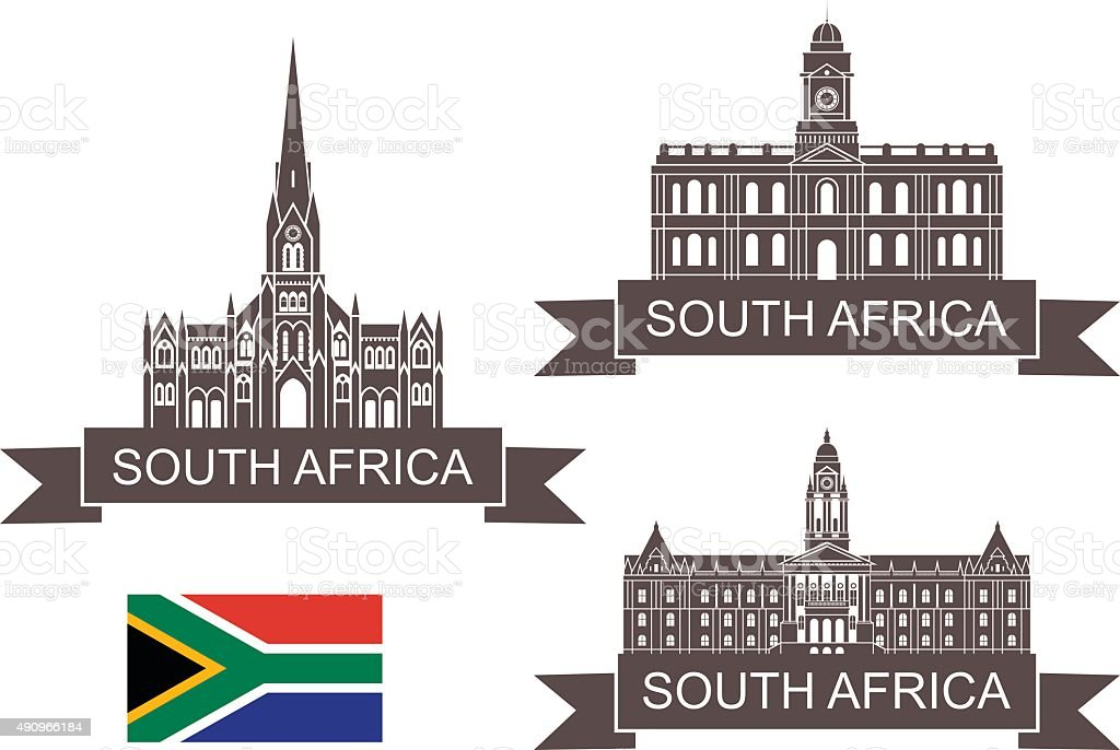 Republic of South Africa vector art illustration