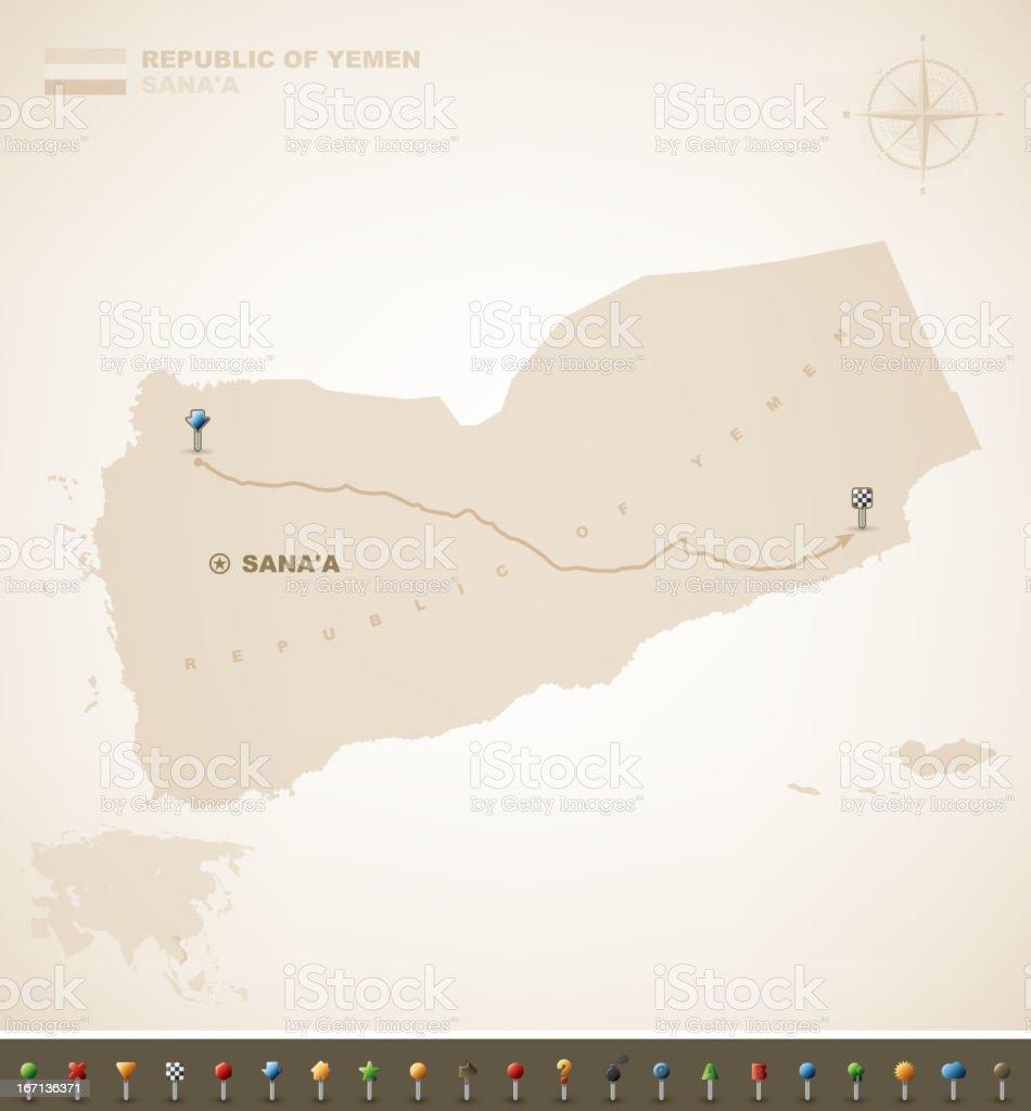 Republic of Yemen royalty-free stock vector art