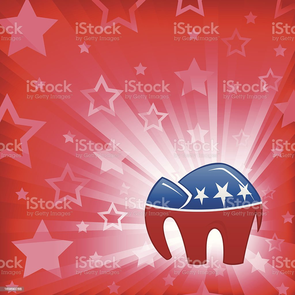 Republican Star Burst vector art illustration