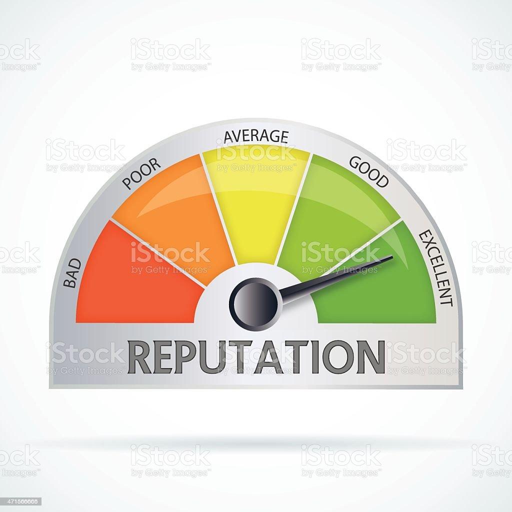 Reputation chart vector art illustration