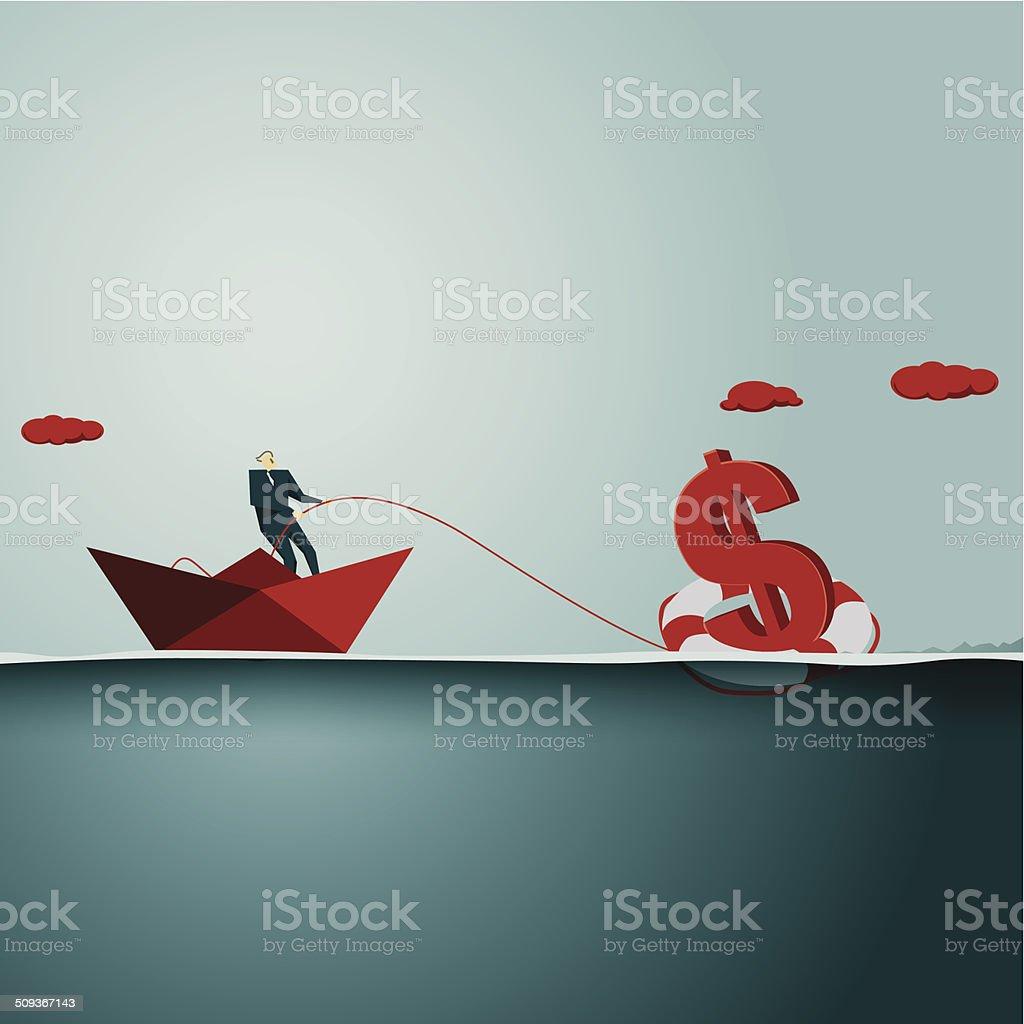 Rescue vector art illustration