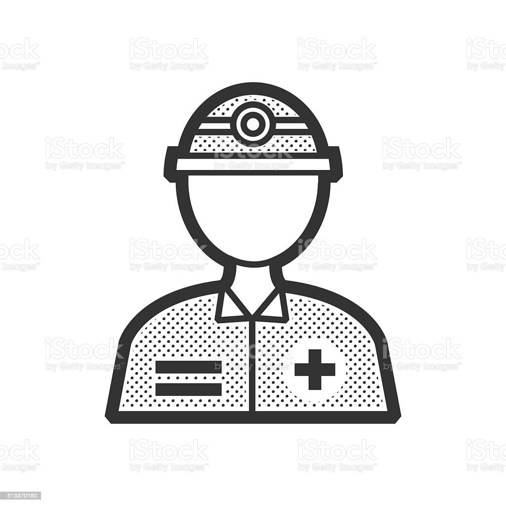 Rescuers, Medical avatar icon vector art illustration