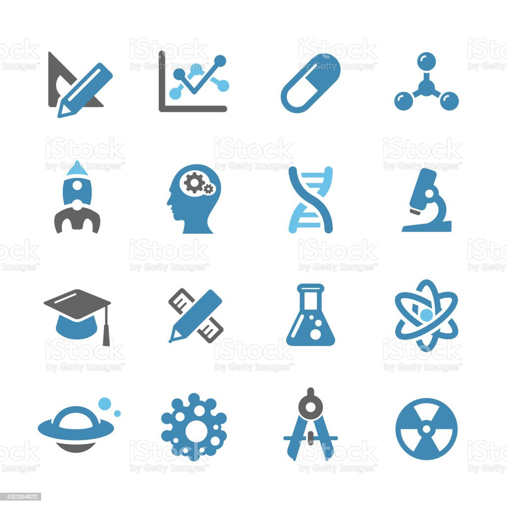 Research and Science Icons - Conc Series vector art illustration
