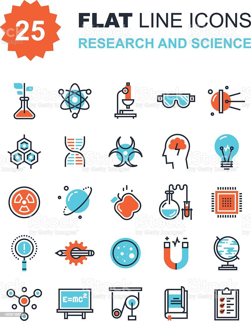 Research and Science vector art illustration
