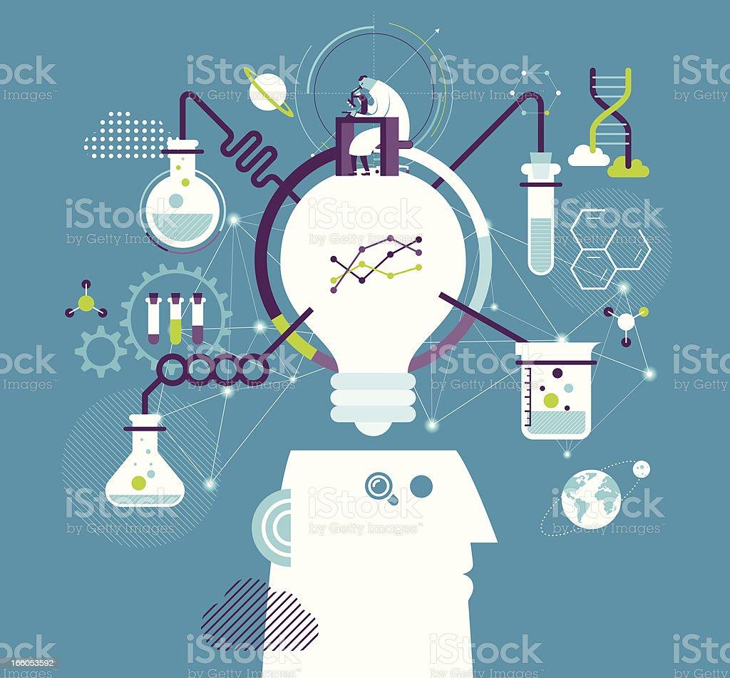 Research & development vector art illustration