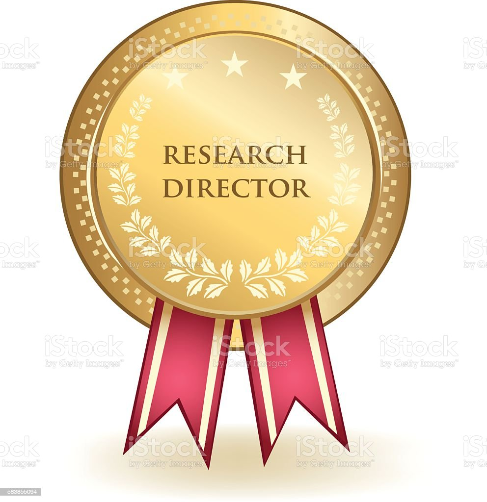 Research Director Award vector art illustration