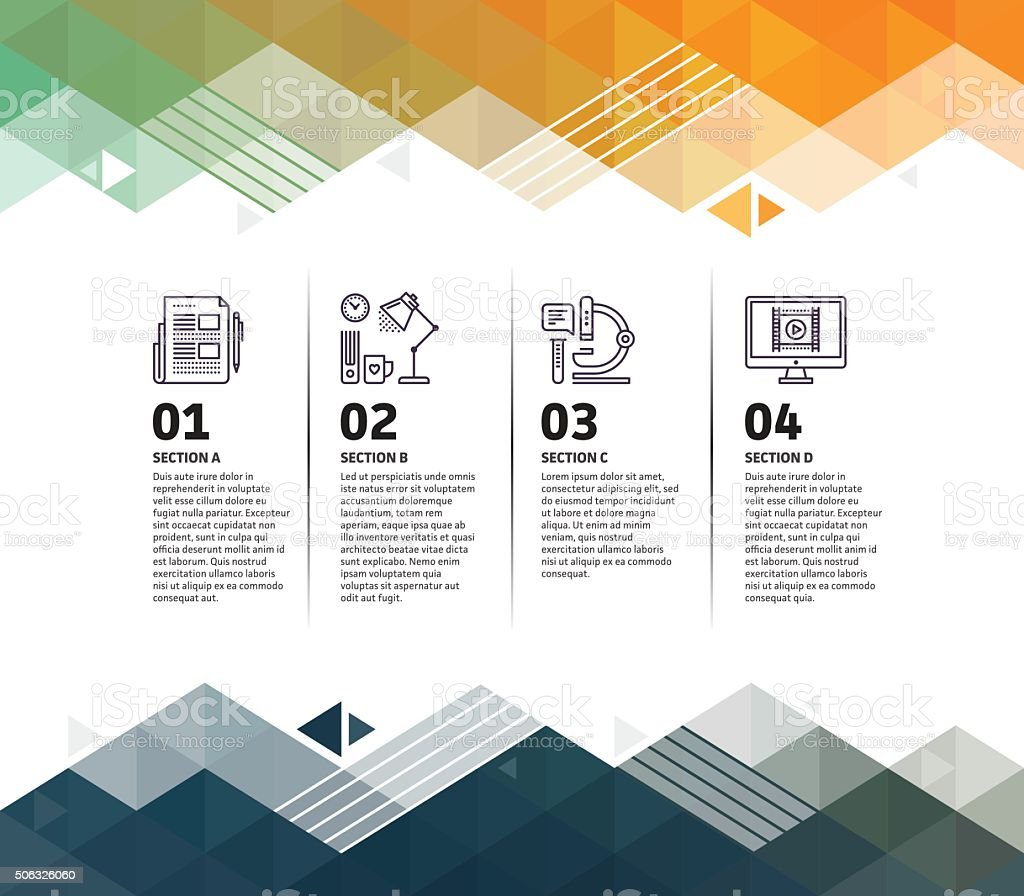 Research Infographic Abstract Background vector art illustration