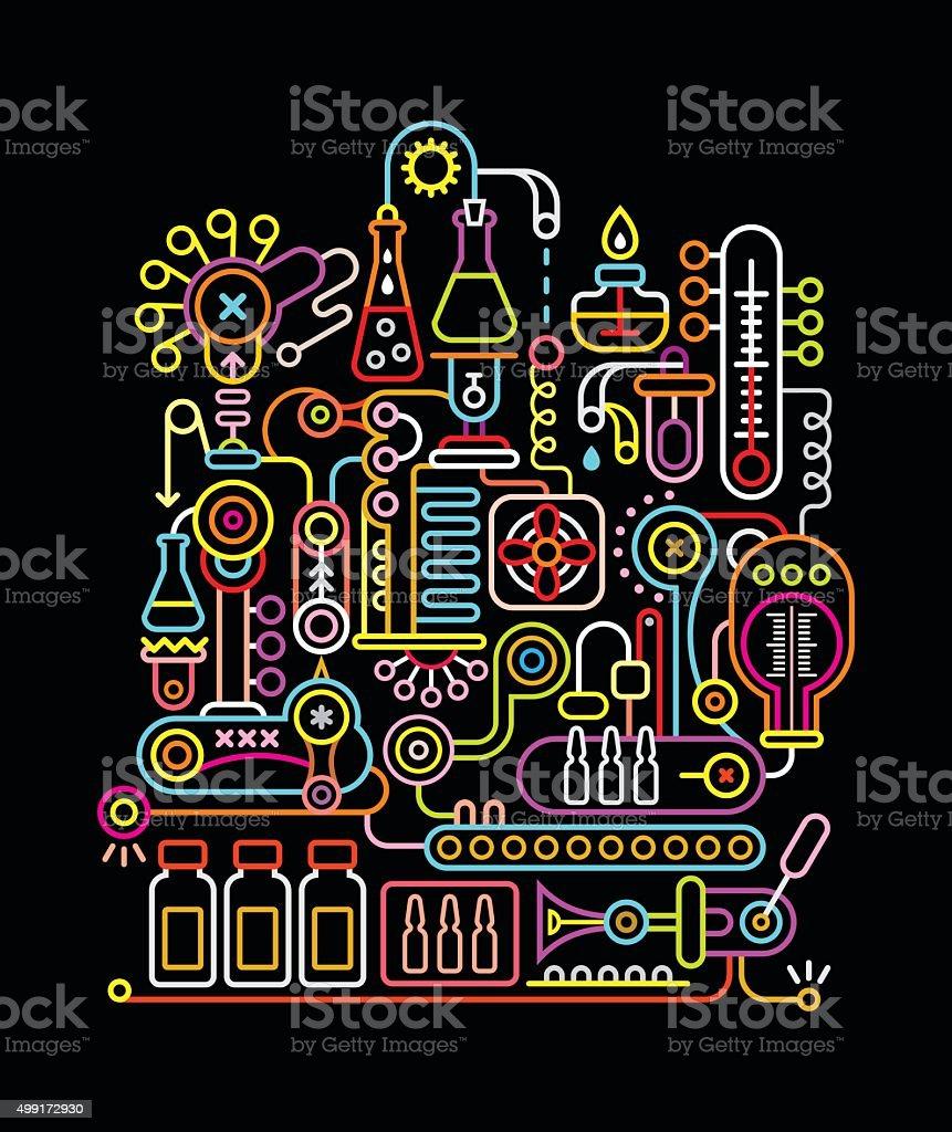 Research Laboratory vector art illustration