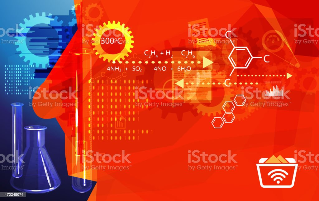 Research Methods Abstract vector art illustration