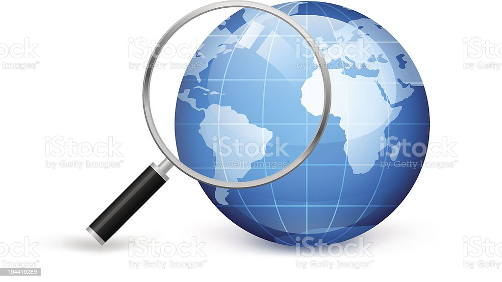 Research of earth royalty-free stock vector art