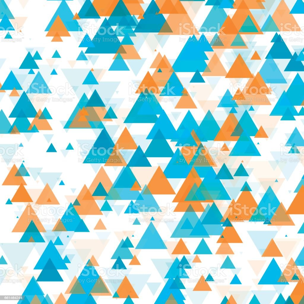 Research Triangle Geometric Graphic Pattern vector art illustration