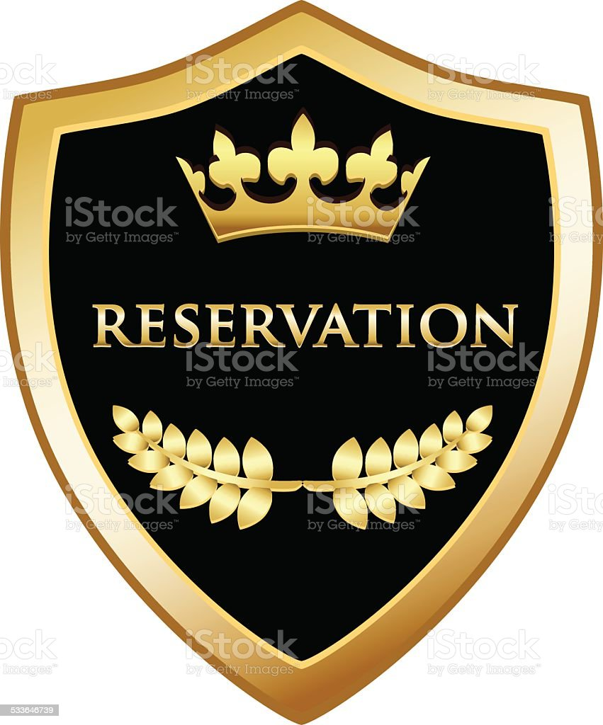 Reservation Shield vector art illustration