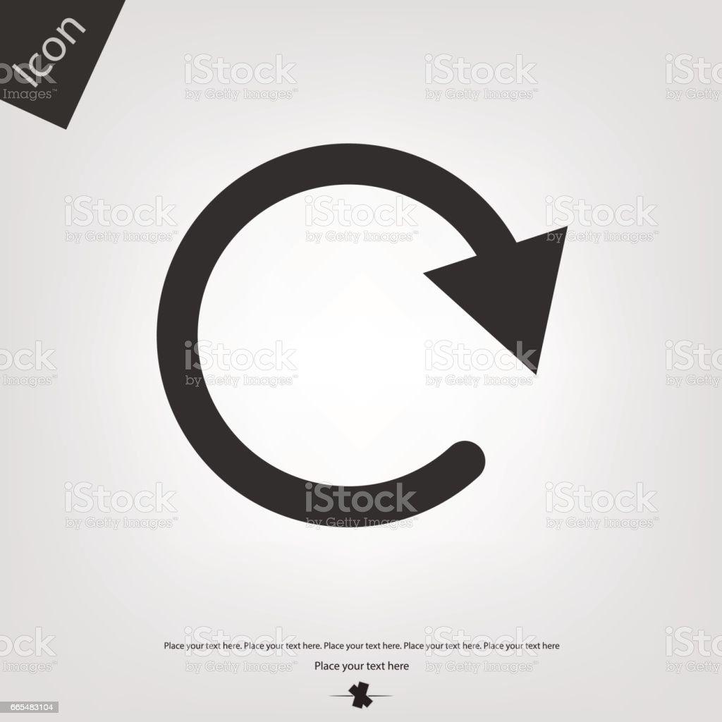 Reset vector icon vector art illustration