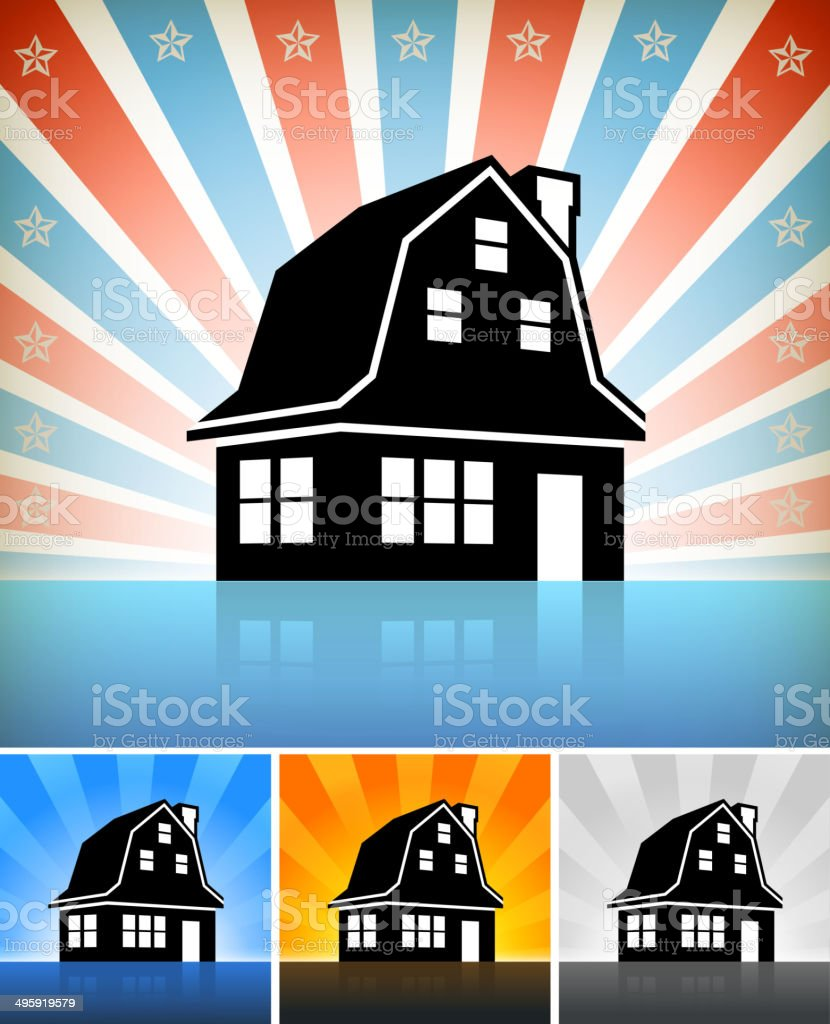 Residential Building Set with Stars royalty-free stock vector art