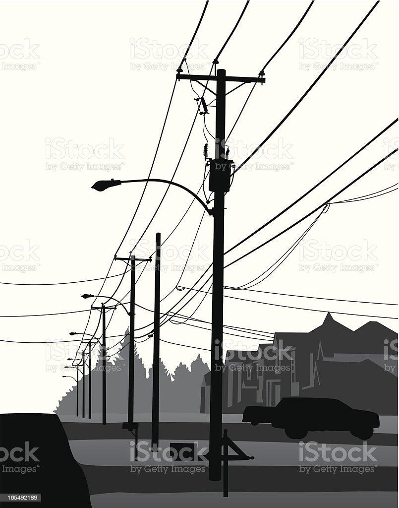 Residential Vector Silhouette vector art illustration