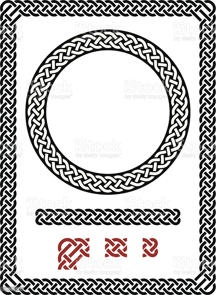 Resizable seamless Celtic frame vector art illustration