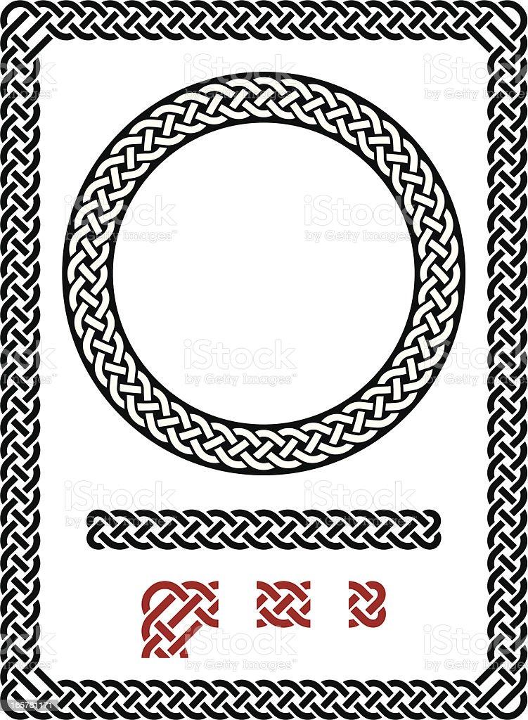 Resizable seamless Celtic frame vector art illustration