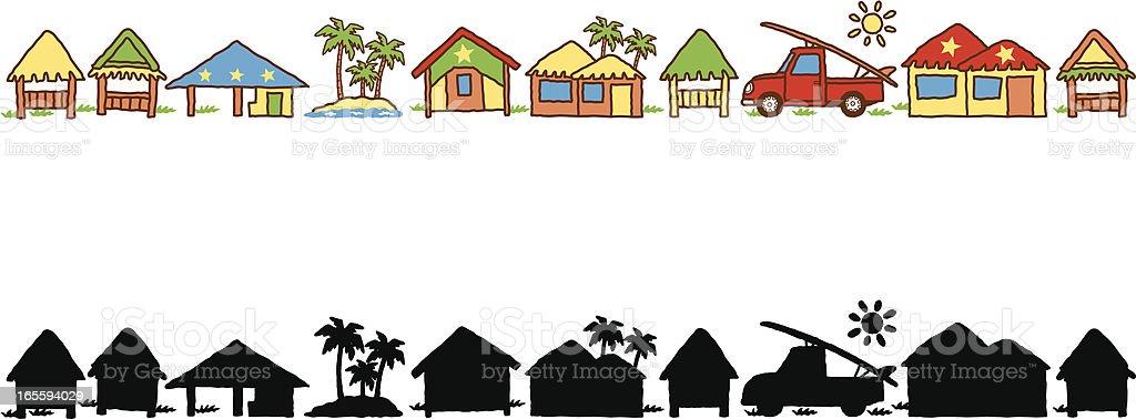Resort royalty-free stock vector art