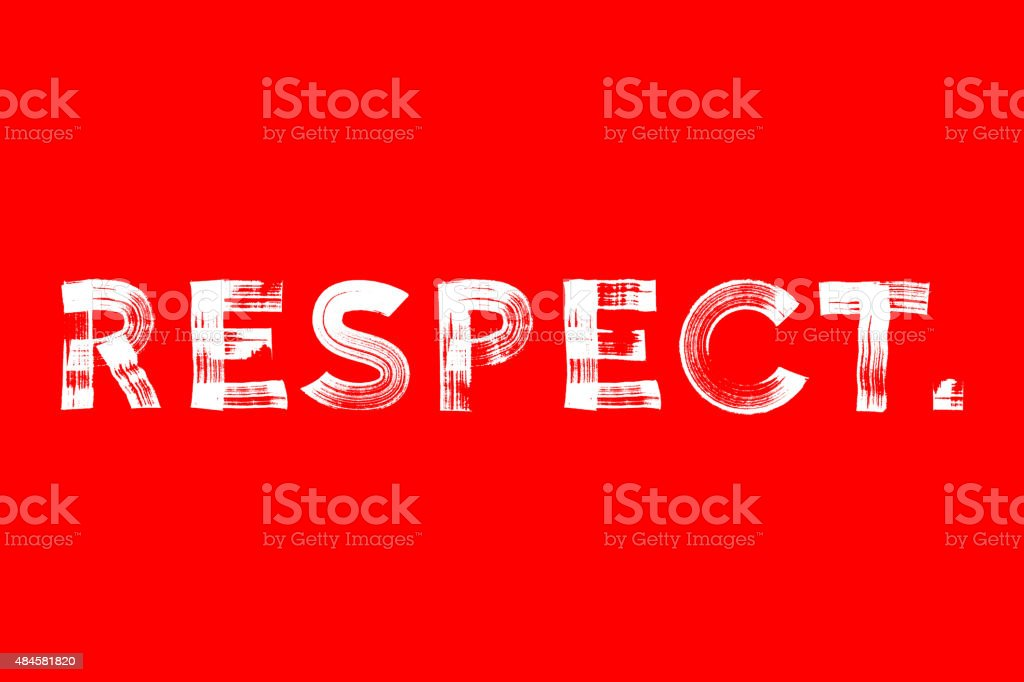 Respect paint brushed vector poster vector art illustration