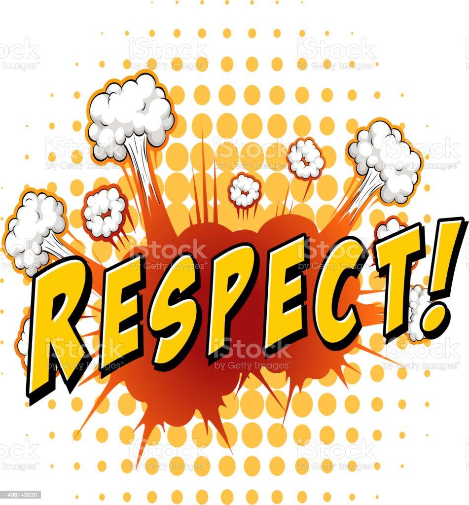 Respect vector art illustration