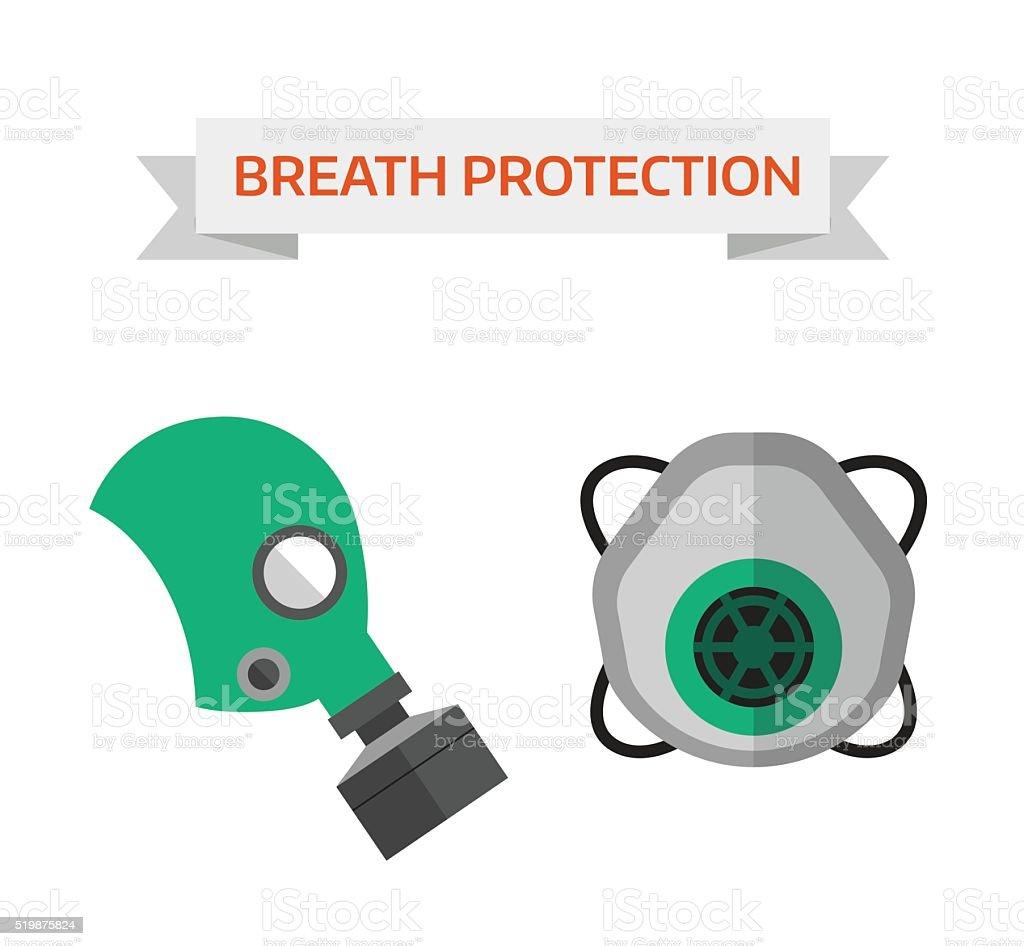 Respiratory protection vector illustration vector art illustration