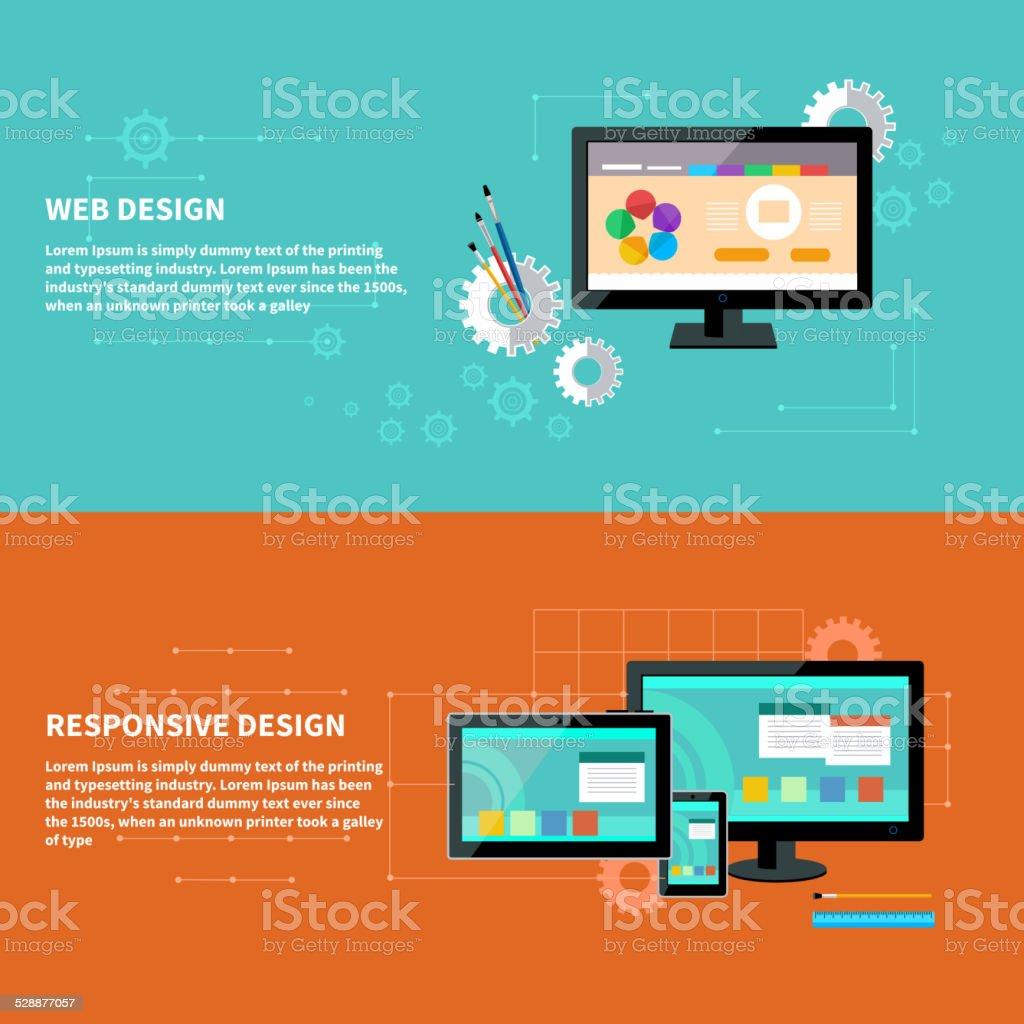 Responsive and web design concept vector art illustration
