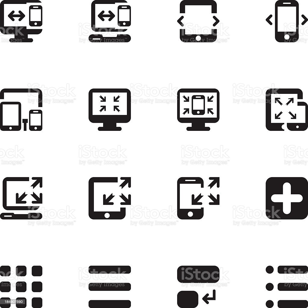 Responsive Design Icons 2 - Pixel Perfect royalty-free stock vector art