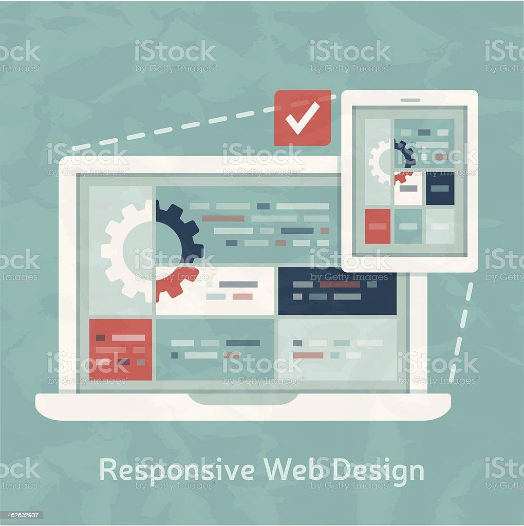 Responsive Design vector art illustration
