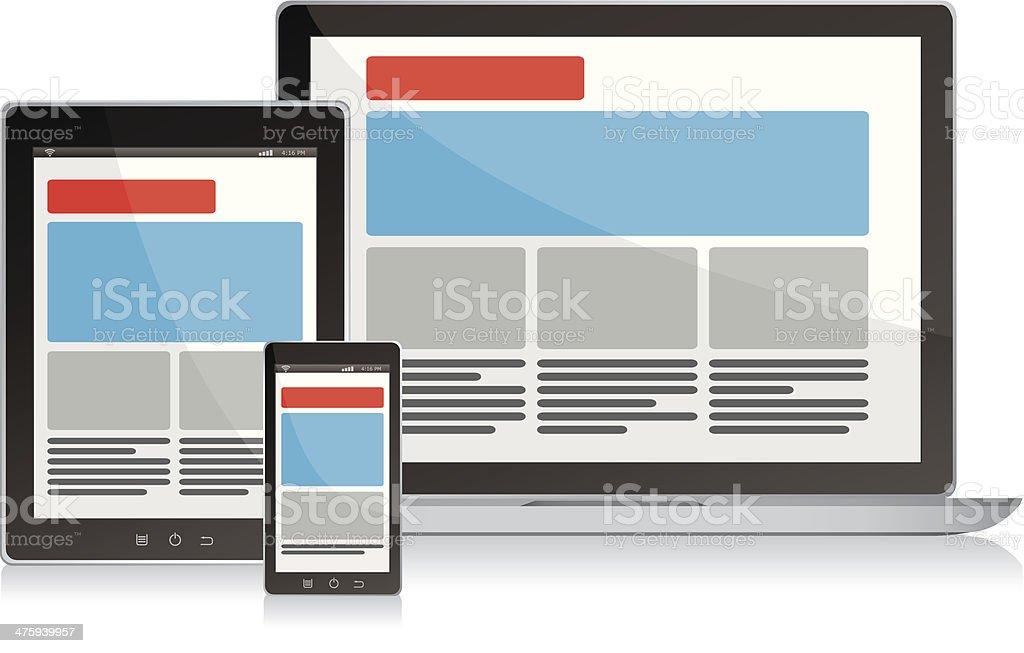 Responsive design royalty-free stock vector art