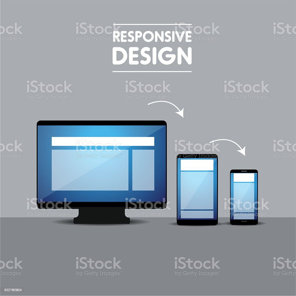 Responsive web design concept vector vector art illustration