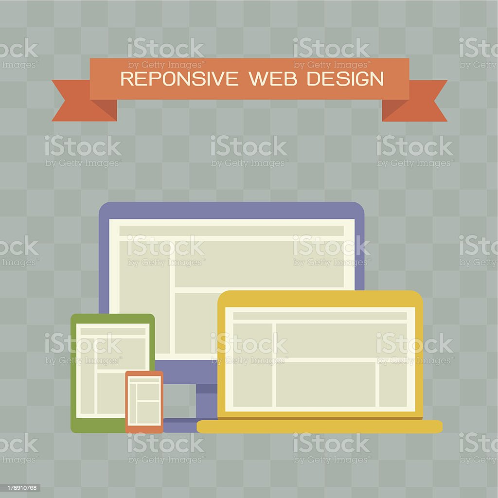 Responsive Web Design royalty-free stock vector art