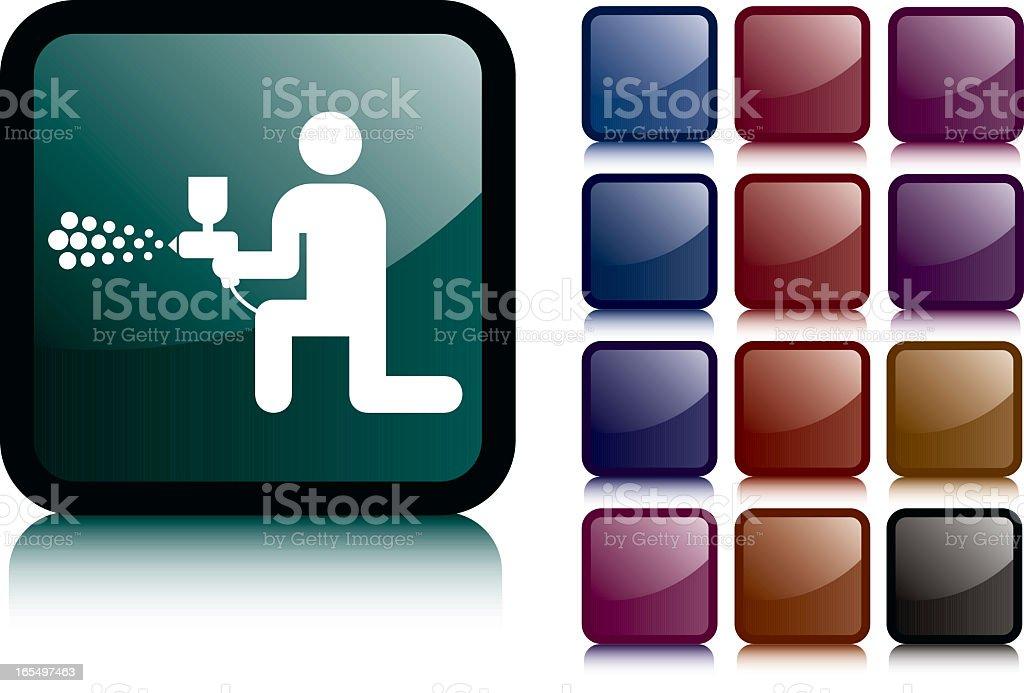 Re-Spray Dark Icon royalty-free stock vector art