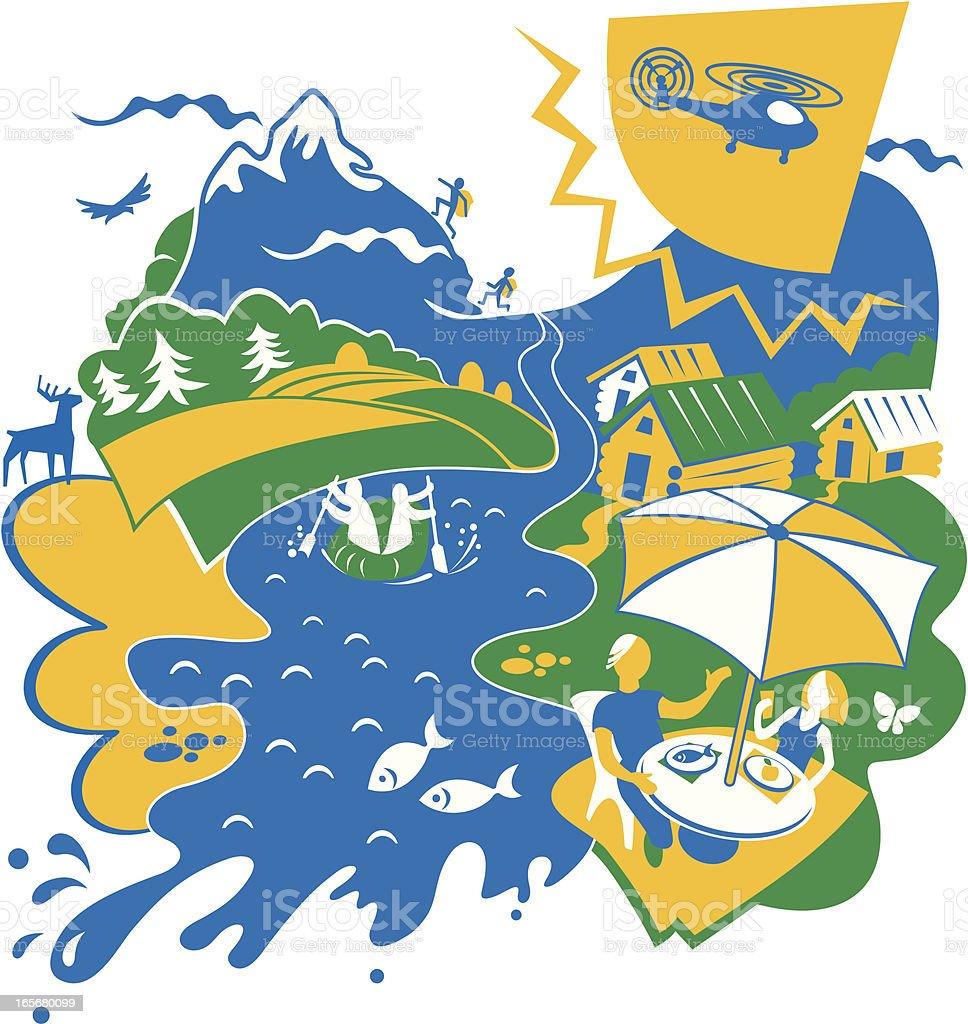 Rest on the Nature vector art illustration