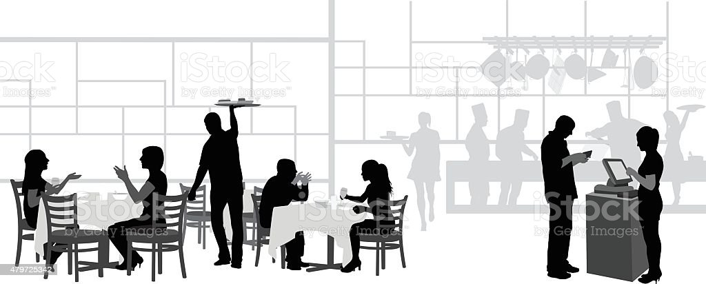 Restaurant Kitchen Illustration restaurant and kitchen stock vector art 479725342 | istock