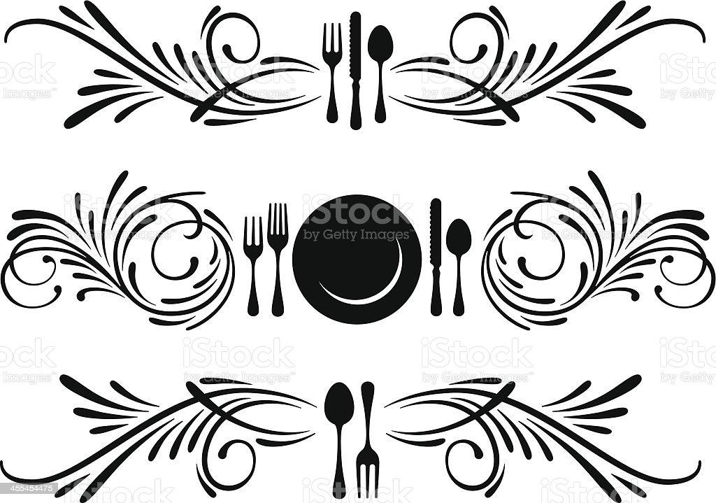Restaurant banners royalty-free stock vector art
