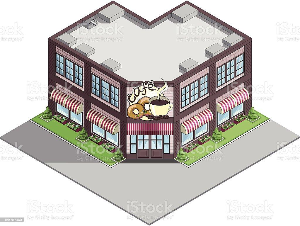 Restaurant building. royalty-free stock vector art