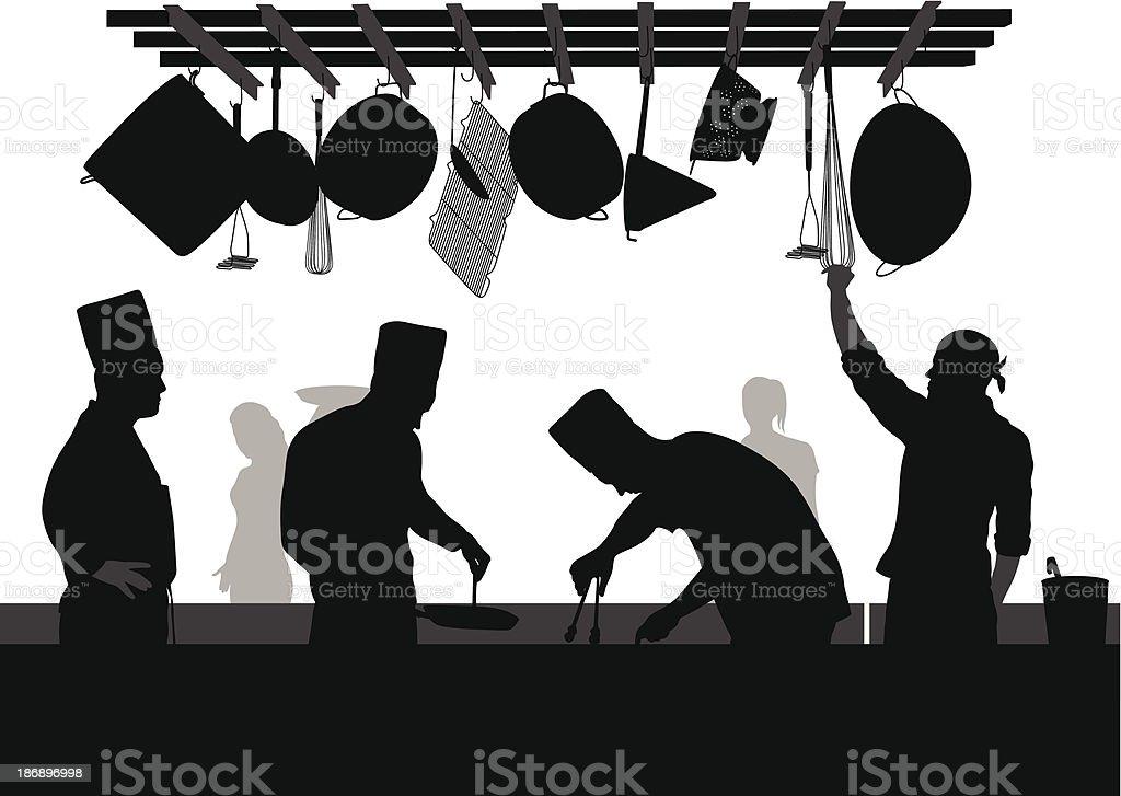 Restaurant Chef vector art illustration