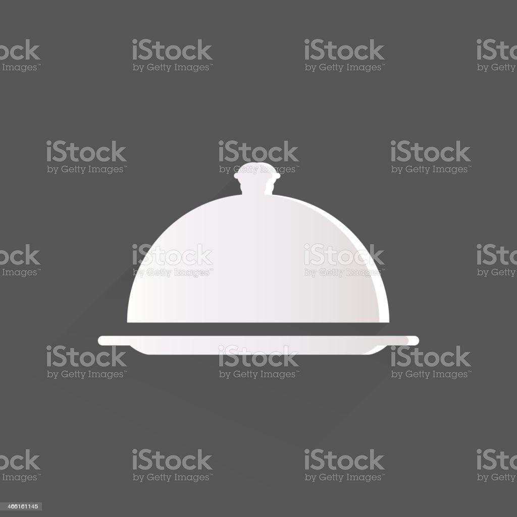 Restaurant cloche icon vector art illustration
