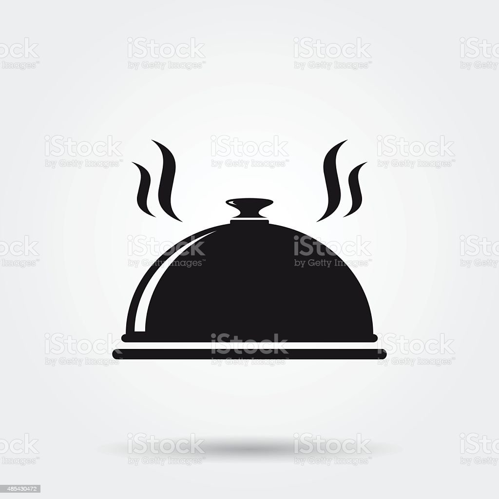 Restaurant cloche icon vector art illustration